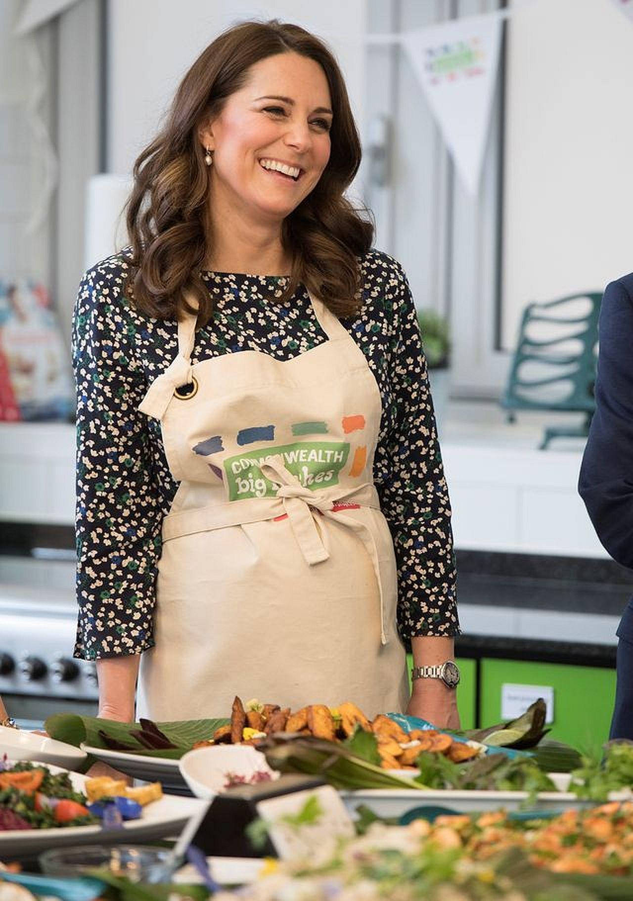 Księżna Kate podczas gotowania