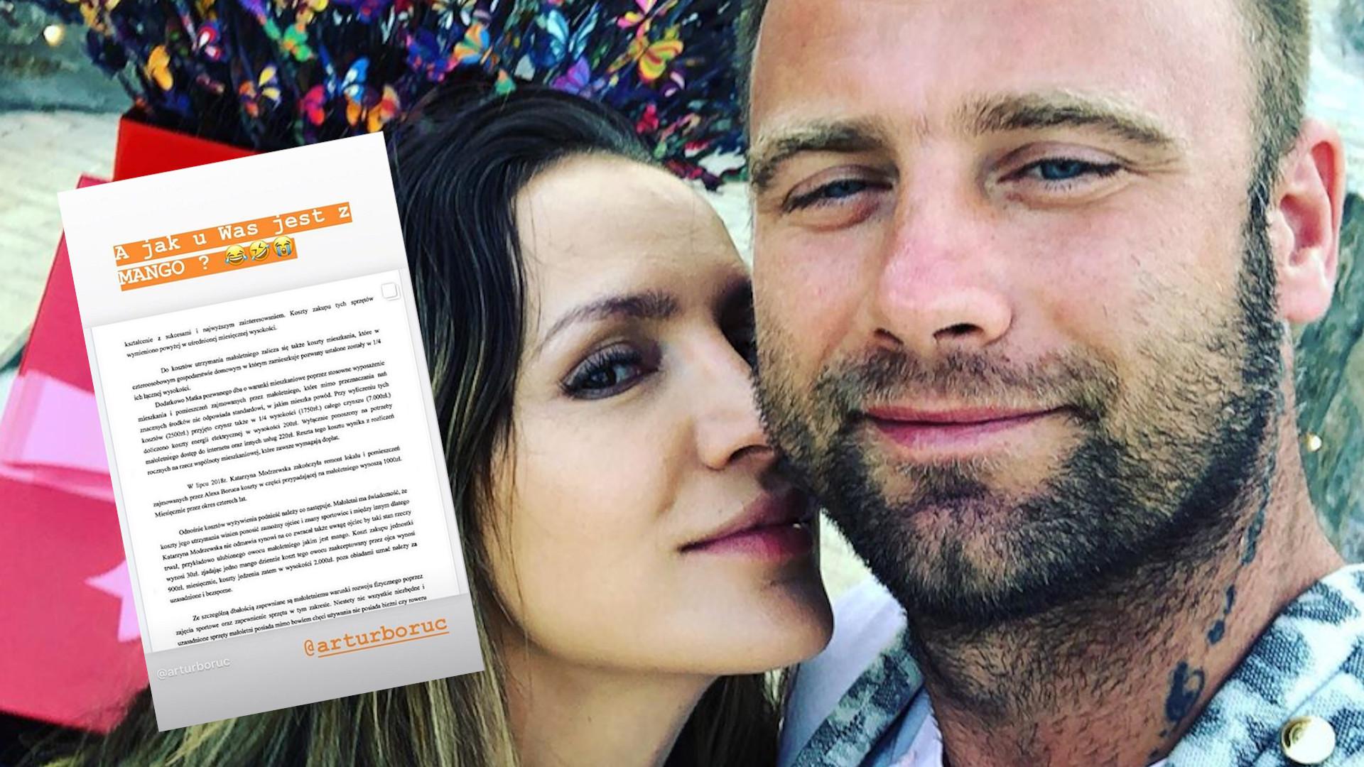 Była żona Artura Boruca zarzuciła mu, że nie płaci alimentów i nie interesuje się synem – piłkarz i Sara odpowiedzieli
