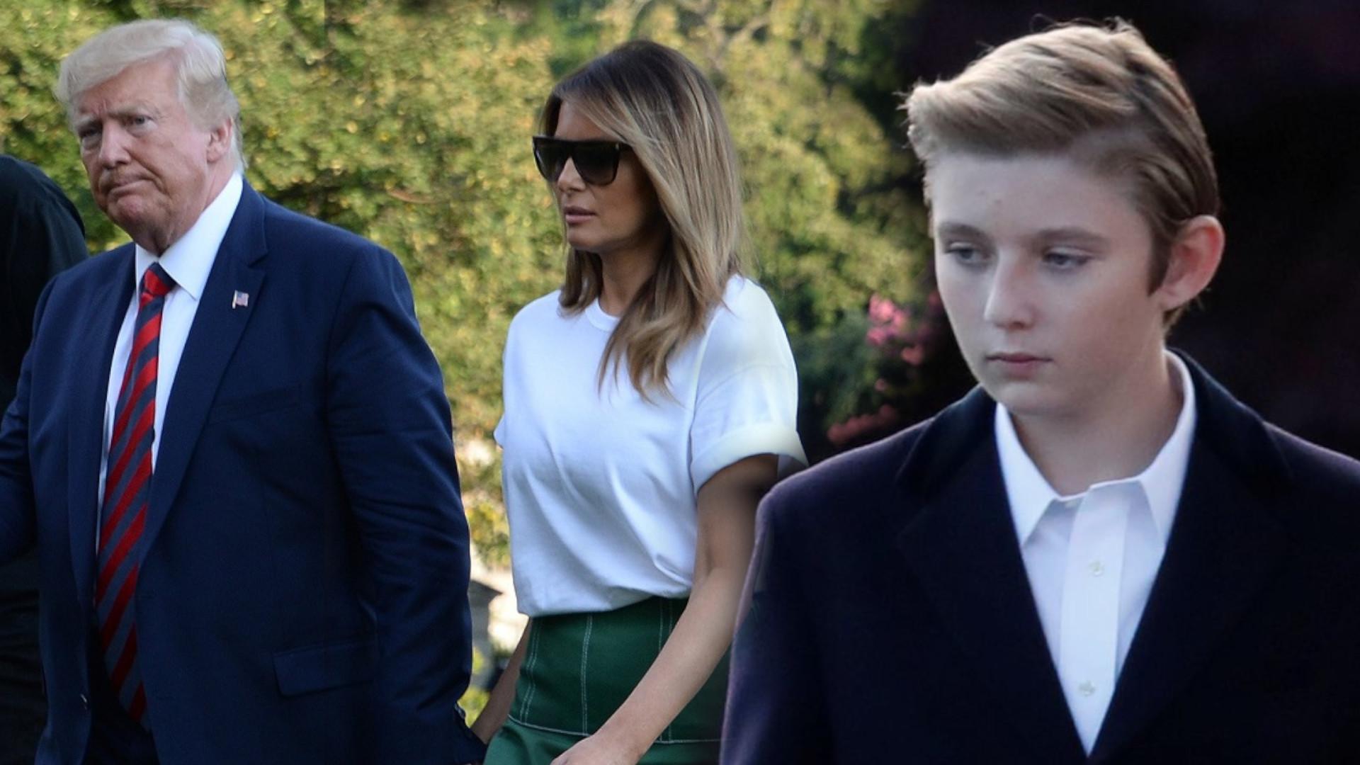 OMG! Syn Donalda i Melanii jest taki wysoki. Przerósł już rodziców (ZDJĘCIA)