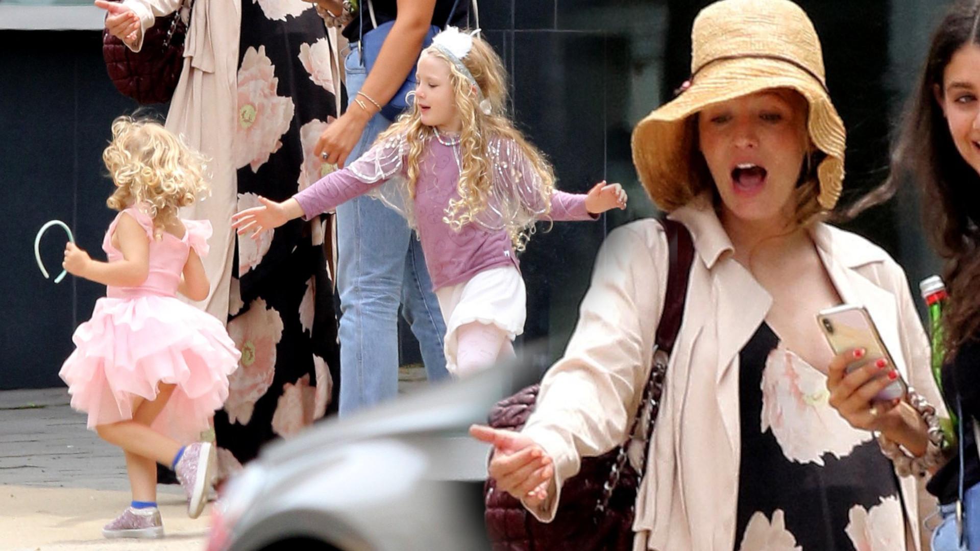 Blake Lively z DUŻYM ciążowym brzuchem ogarnia biegające córki (ZDJĘCIA)