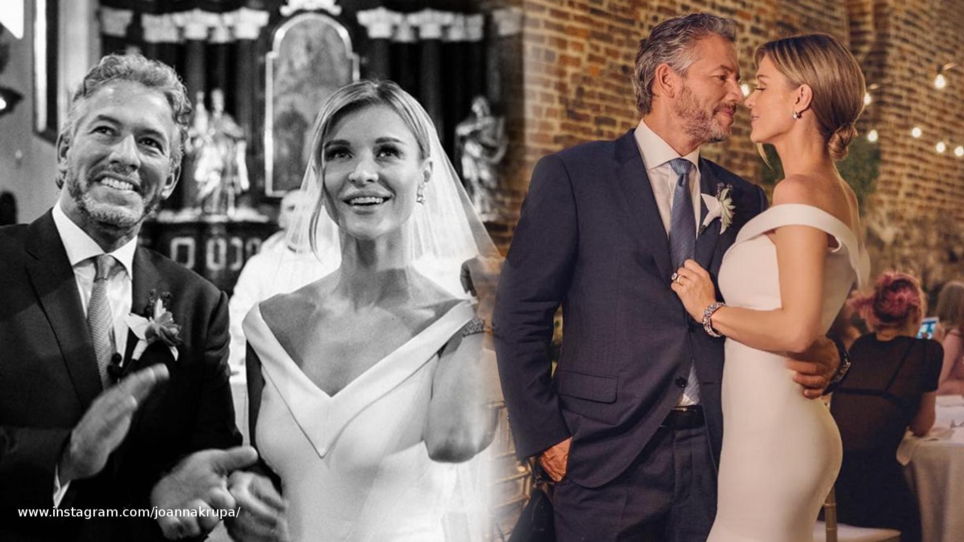 Joanna Krupa wspomina ślub – miała suknię od polskiej projektantki