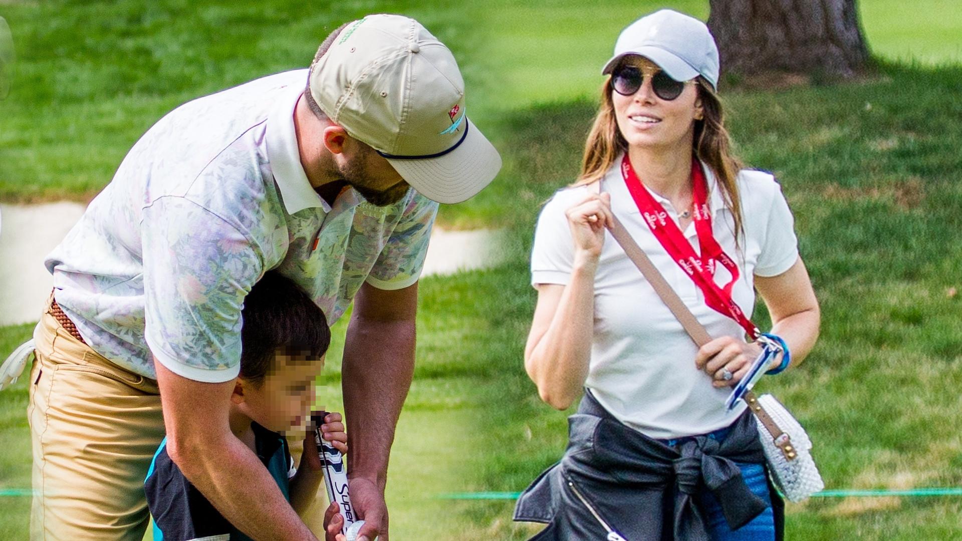 Justina Timberlake uczy synka grać w golfa (ZDJĘCIA)