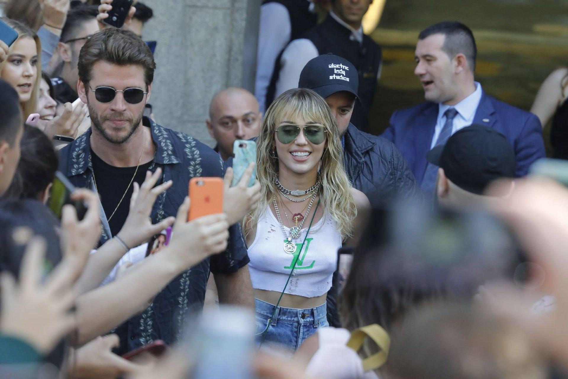 Miley Cyrus i Liam Hemsworth w Barcelonie.