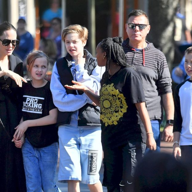 EXCLUSIVE: **PREMIUM RATES APPLY** Angelina Jolie takes four of her kids to Disneyland for a fun day
