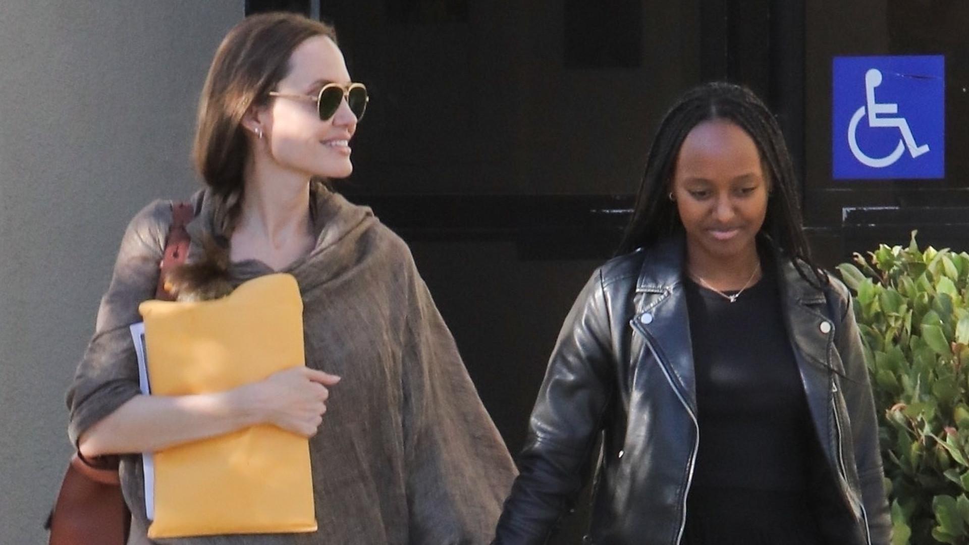 Angelina Jolie szła z 14-letnią córką za rękę (ZDJĘCIA)