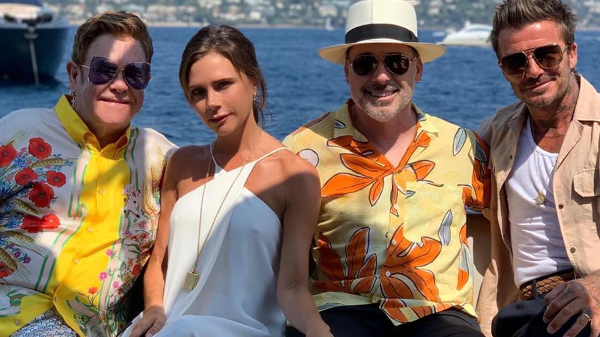 Victoria Beckham z rodziną wypoczywa na luksusowym jachcie w towarzystwie Eltona Johna
