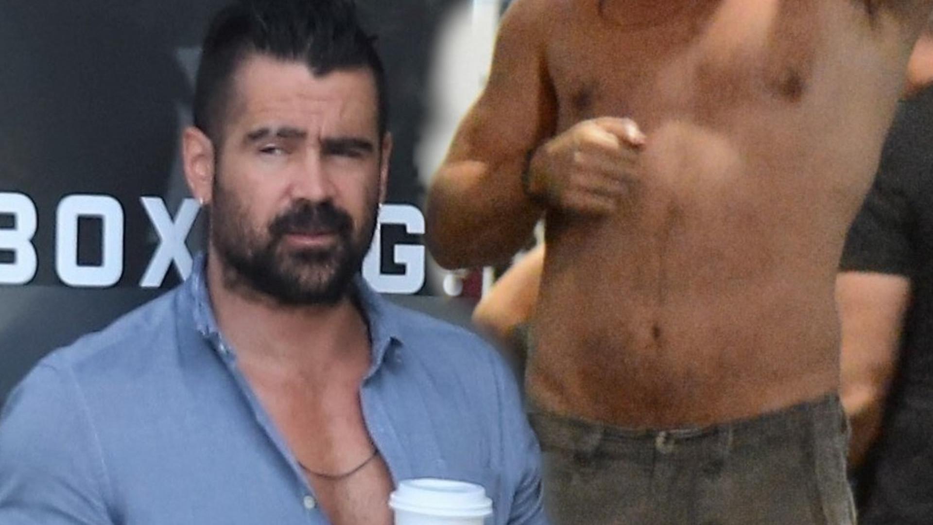 Colin Farrell od tygodni pakuje na siłowni. Trochę mu się przytyło (ZDJĘCIA)