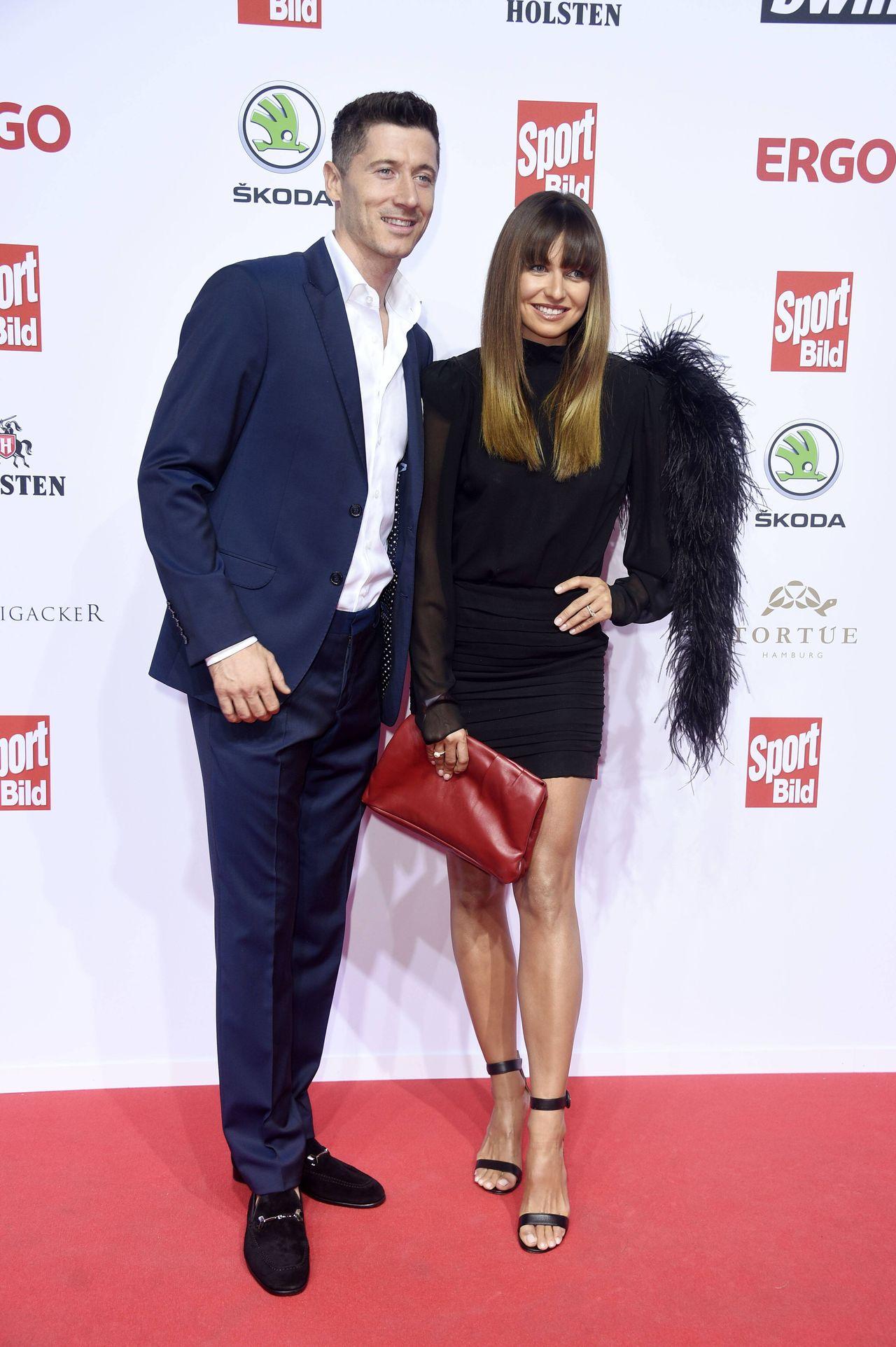 Anna Lewandowska i Robert Lewandowski na Sport Bild Award
