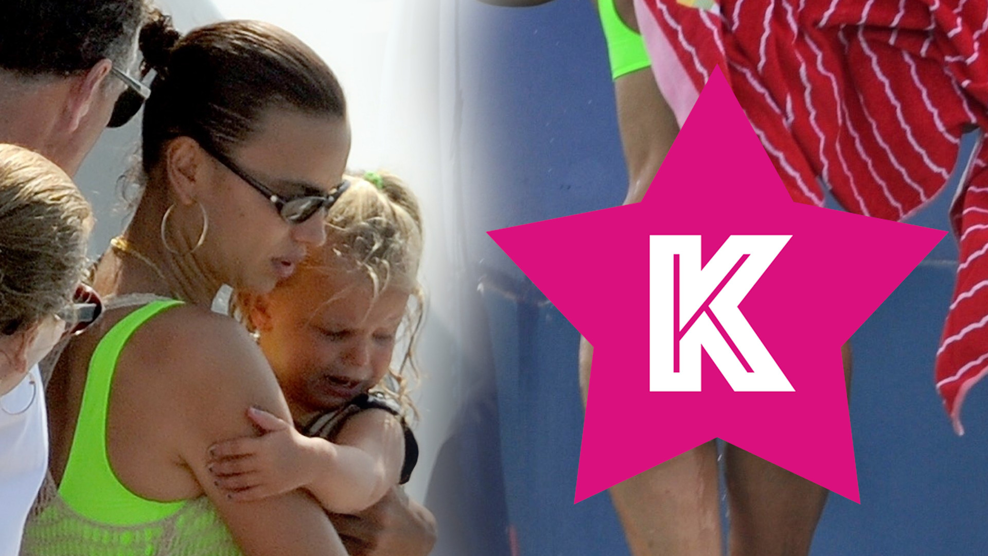 Co za PUPA! Irina Shayk w BIKINI na wakacjach z córką