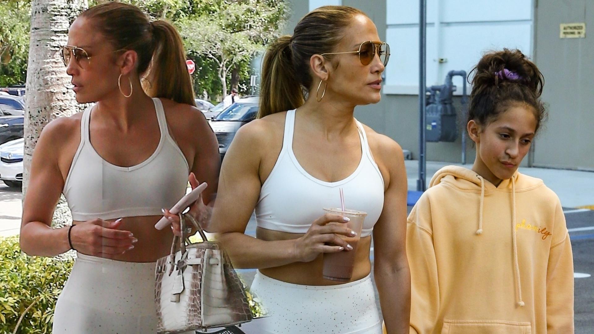 Jennifer Lopez pokazała wypracowaną pupę podczas wizyty na siłowni w Miami (ZDJĘCIA)