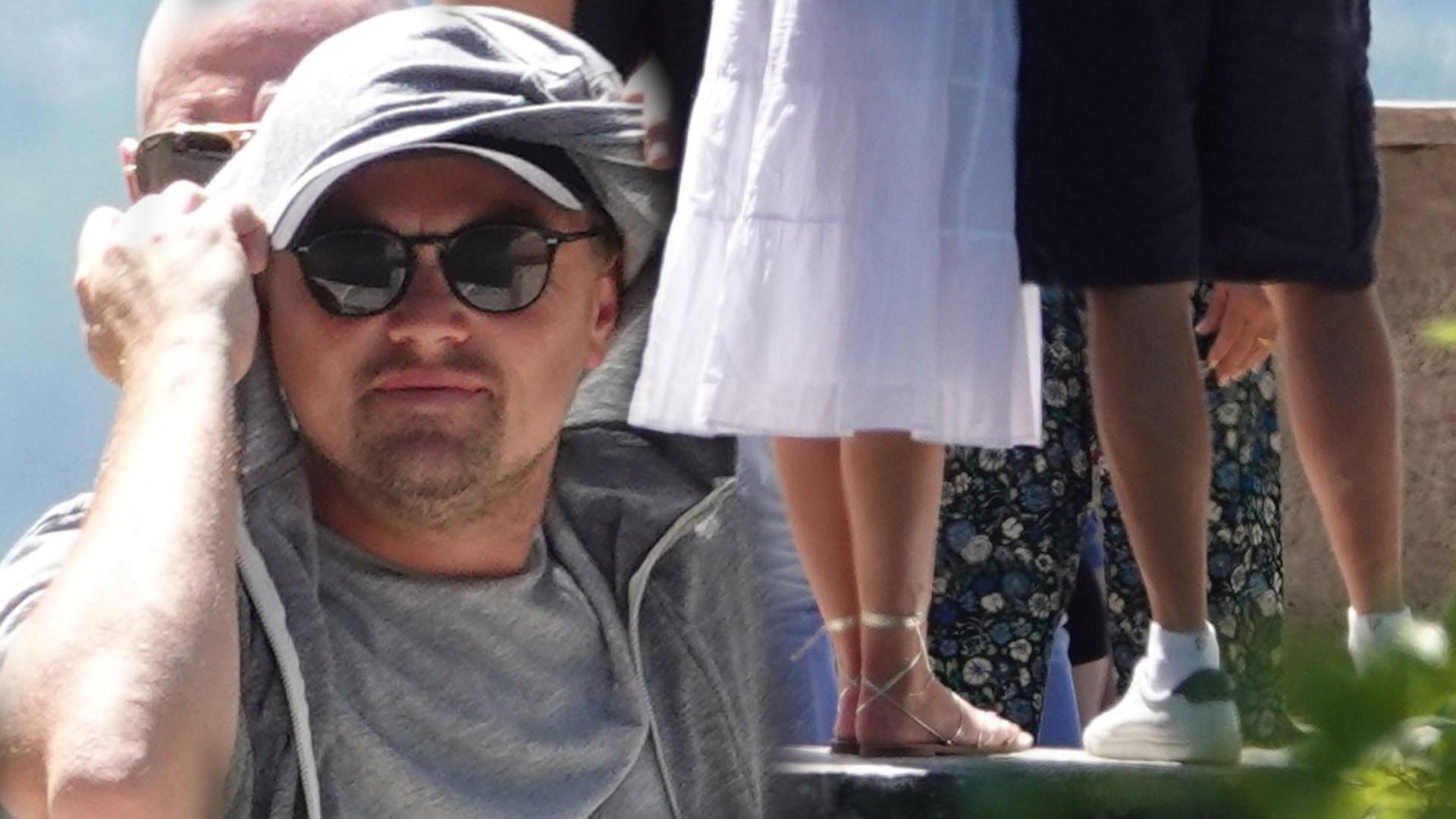 Leonardo DiCaprio na wakacjach. Jak każdy chłopak instagramerki, stał i robił dziewczynie zdjęcia