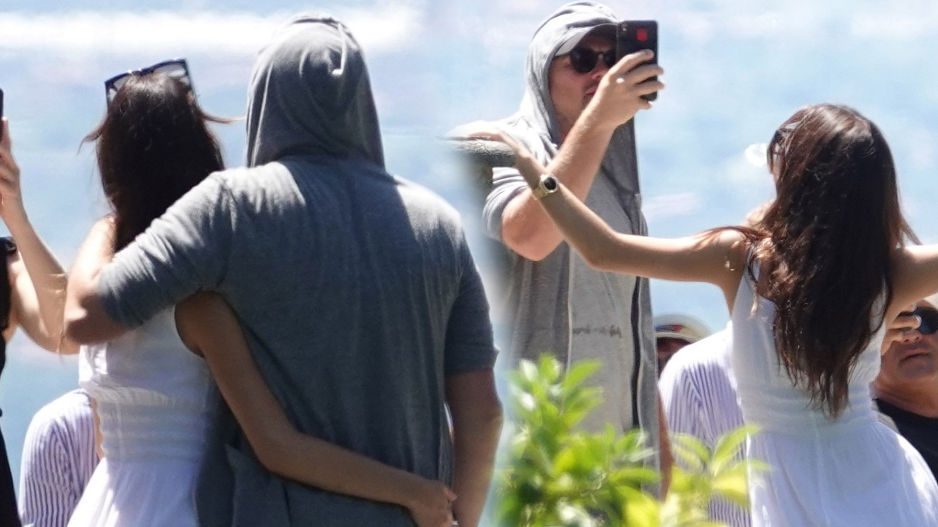 Leonardo DiCaprio z 22-letnią partnerką i mamą zwiedzają Włochy