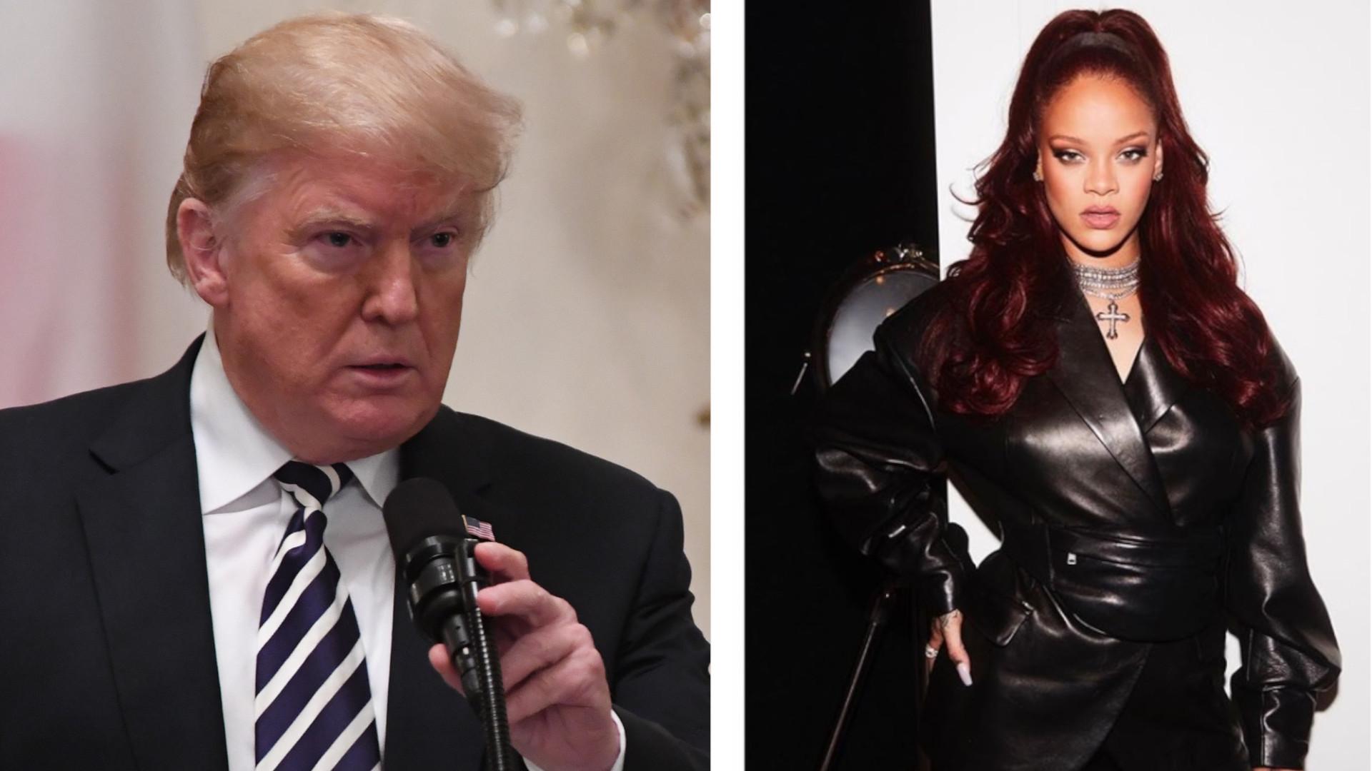 Rihanna zaatakowała Donalda Trumpa. Słowa piosenkarki wbijają w fotel