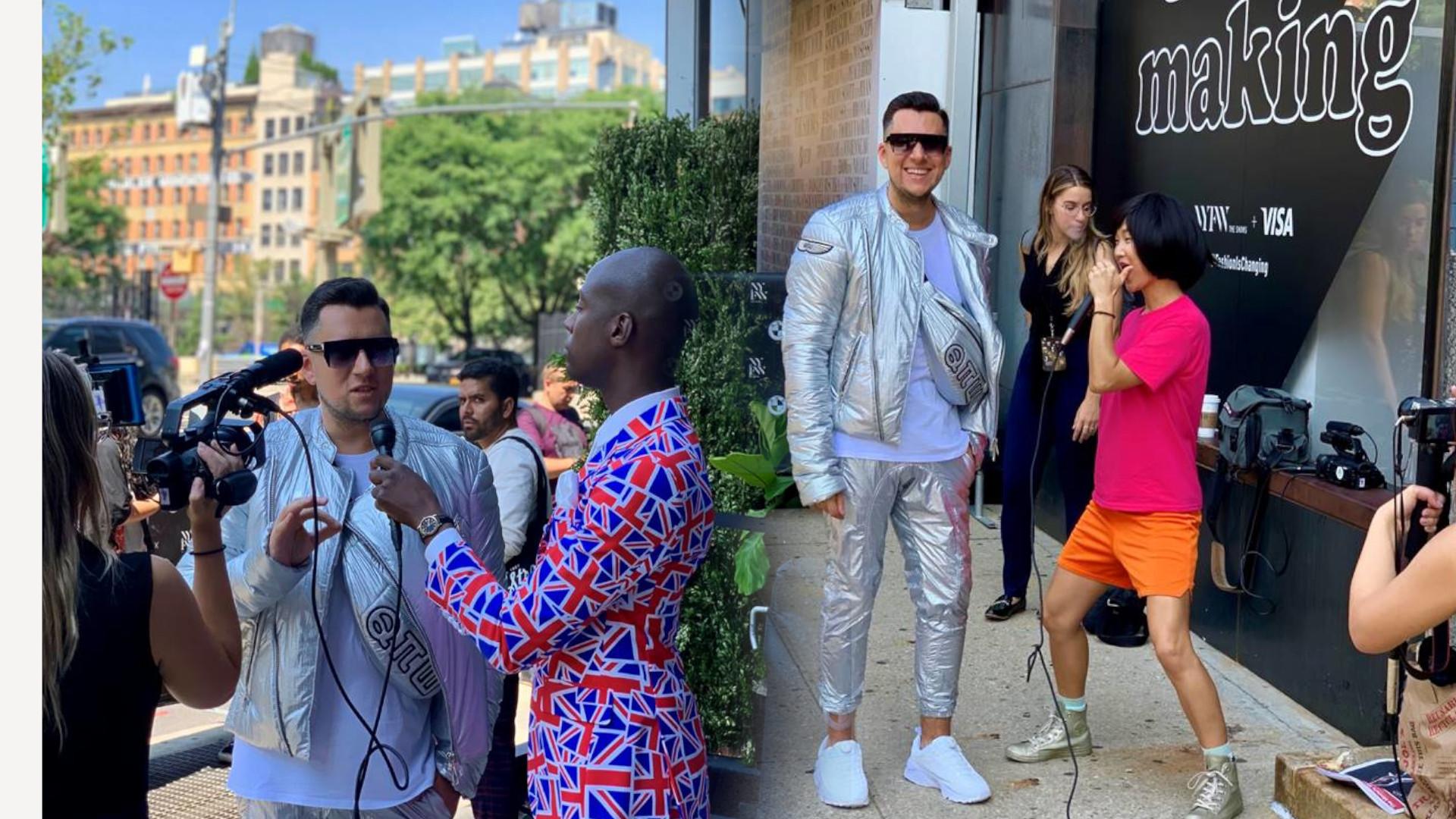 Polski bloger zwrócił uwagę mediów na nowojorskim Fashion Week (ZDJĘCIA)