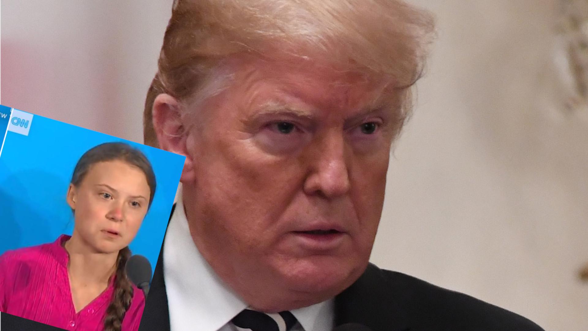 Donald Trump wyśmiał Gretę Thunberg. 16-latka ODPOWIEDZIAŁA tym samym