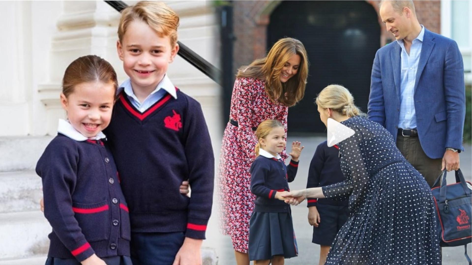 Wiemy, o czym William i Kate rozmawiali z NAUCZYCIELKĄ przed szkołą (WIDEO)