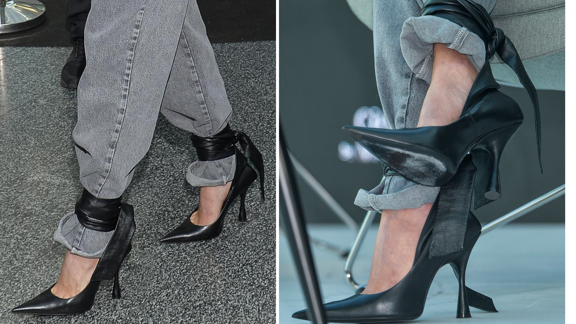 Czy te BUTY będą HITEM jesieni? Polska fashionistka lansuje szpilki z mankietami wiązanymi na dżinsach
