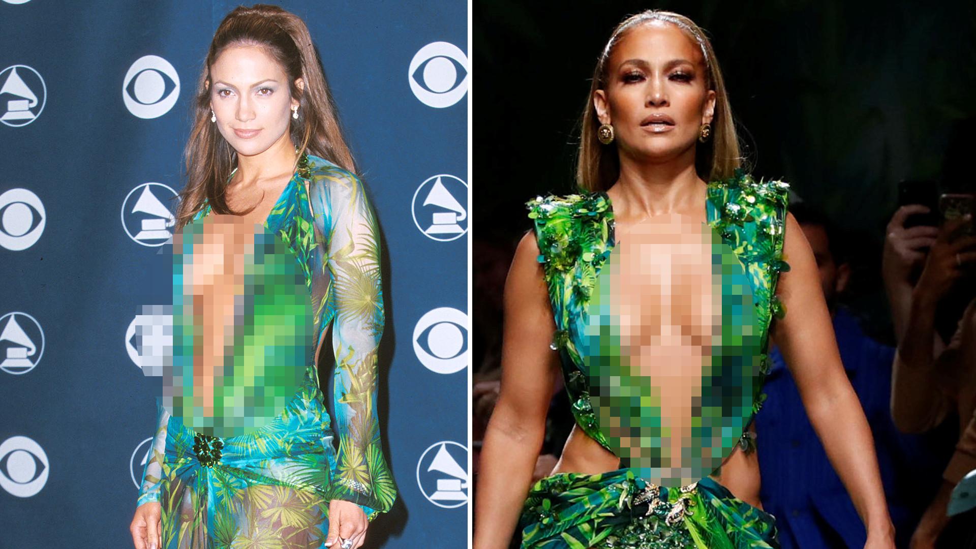 50-letnia Jennifer Lopez 20 lat PÓŹNIEJ wygląda LEPIEJ w słynnej kreacji jungle dress niż jako 30-latka (ZDJĘCIA)