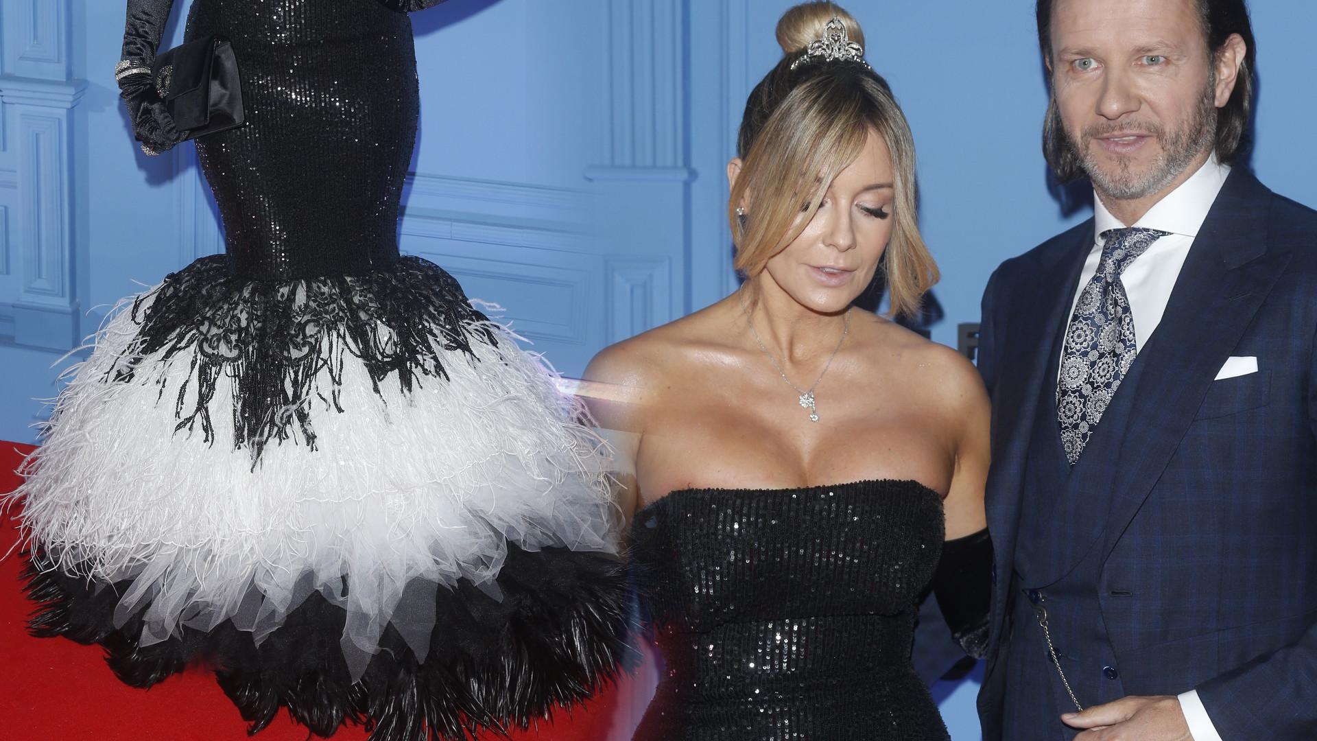 Fanki Małgorzaty Rozenek-Majdan nie są zachwycone jej stylizacją z balu: PARÓWKA (ZDJĘCIA)