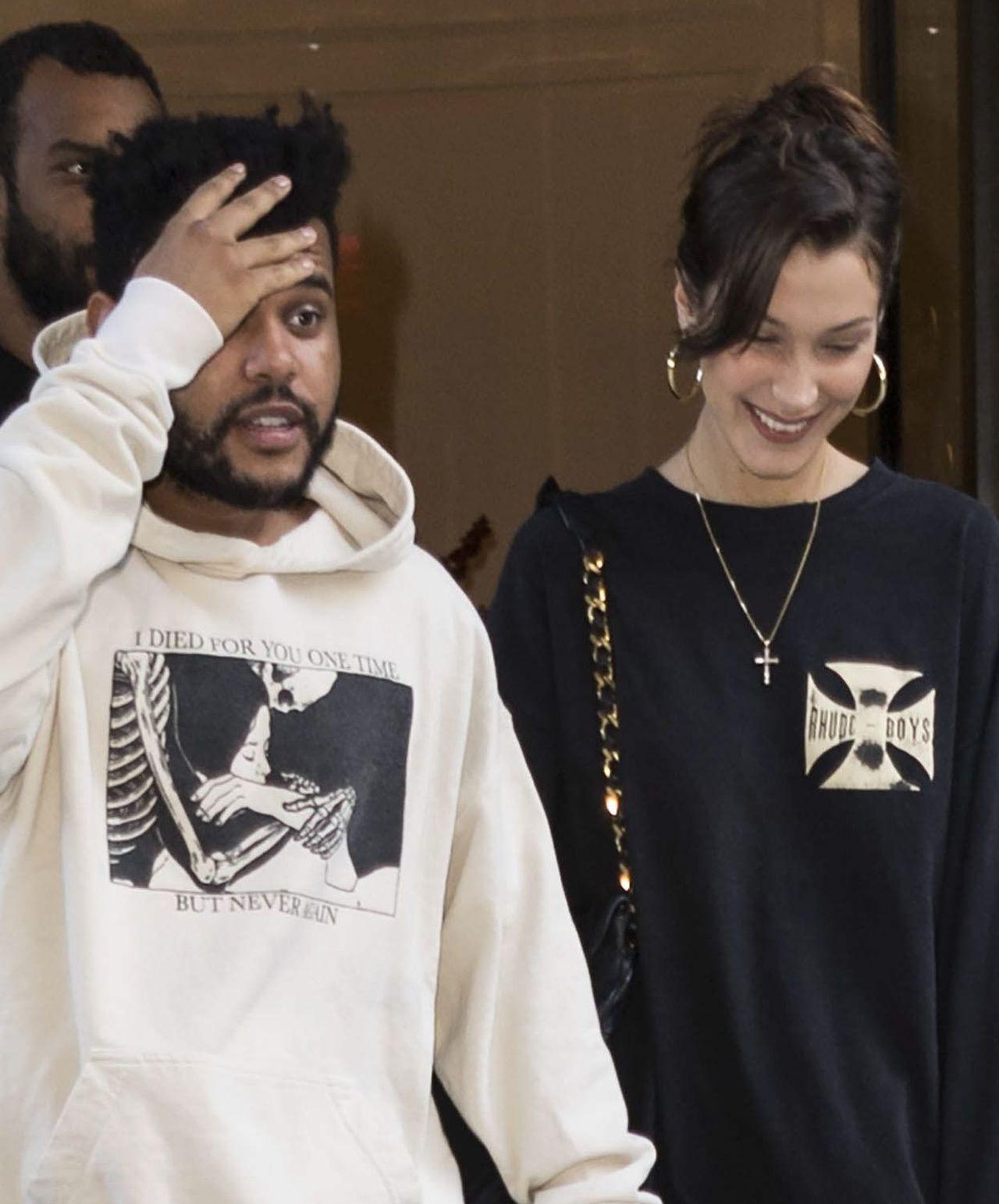 The Weeknd i Bella Hadid przyłapani przez fotoreporterów.