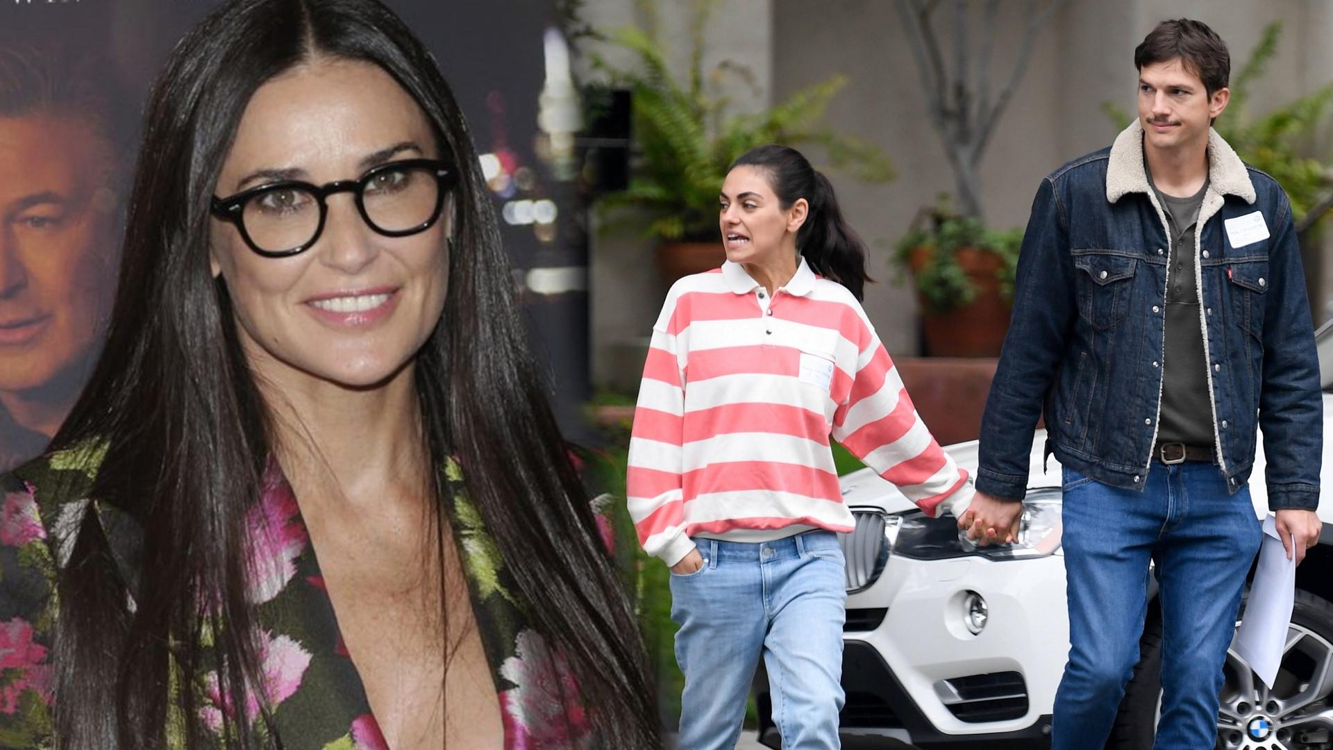 Mila Kunis jest wściekła na byłą swojego męża -Demi Moore- za publiczne wywlekanie spraw z przeszłości