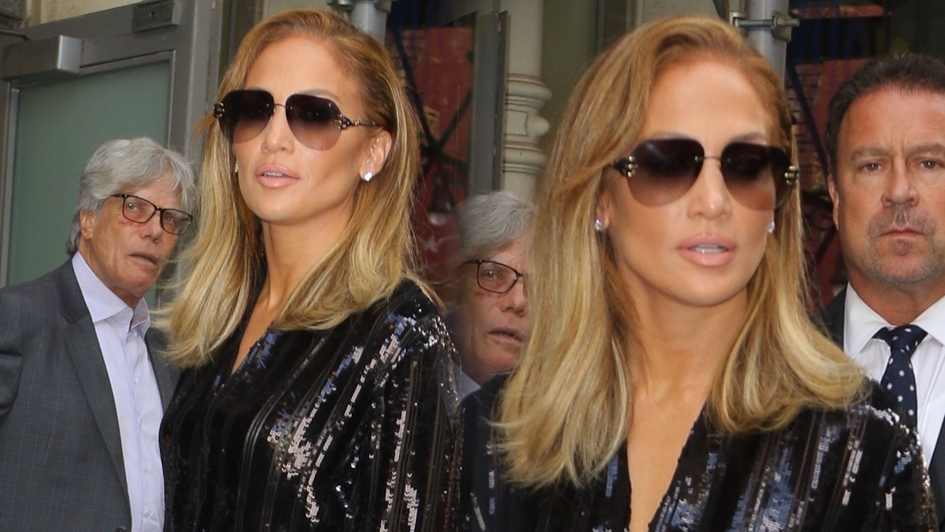 Jennifer Lopez w błyszczącym kombinezonie i z NAJDROŻSZĄ torebką na świecie (ZDJĘCIA)