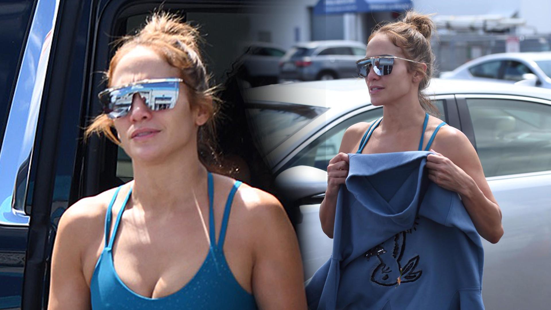 Dlaczego Jennifer Lopez UKRYWA swój brzuch? (ZDJĘCIA)