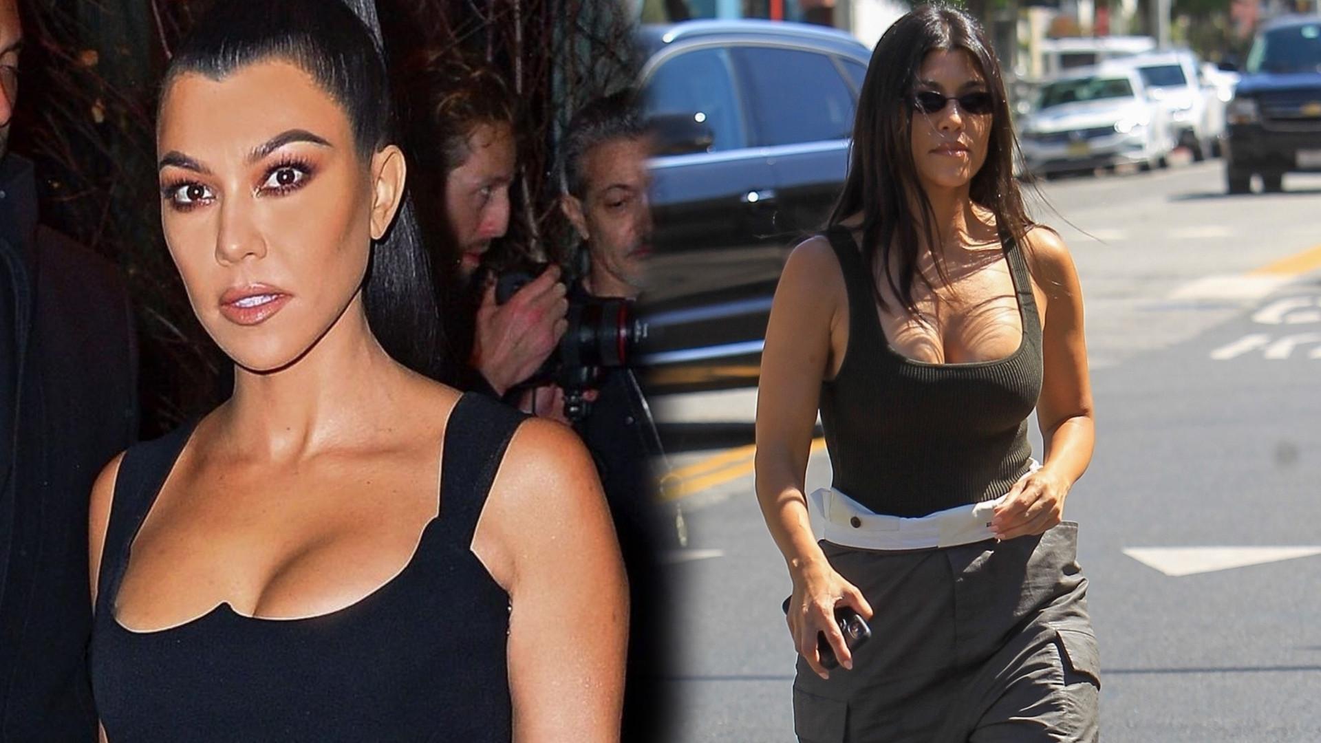 Kourtney Kardashian rozpala zmysły w obcisłym podkoszulku, pod który nie założyła stanika (FOTO)