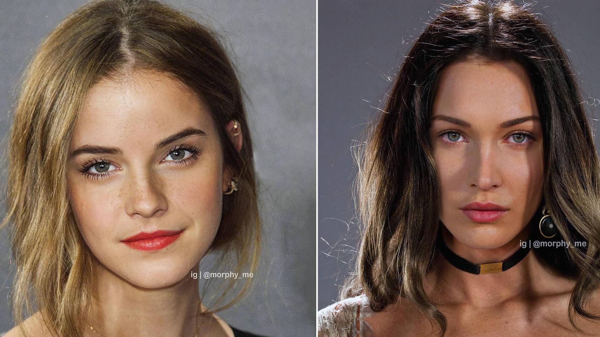 WOW! Nie uwierzysz co się stanie, gdy grafik połączy w Photoshopie twarze gwiazd!