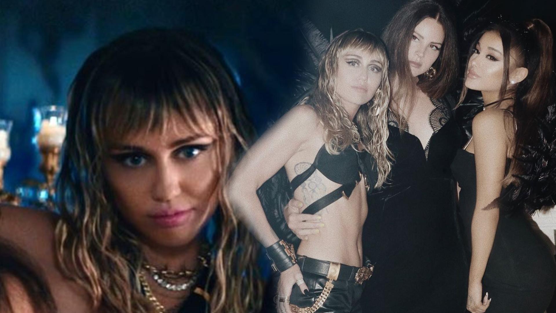 WOW! Najnowszy singiel Miley Cyrus z Arianą Grande i Laną del Rey rozpala do czerwonośći
