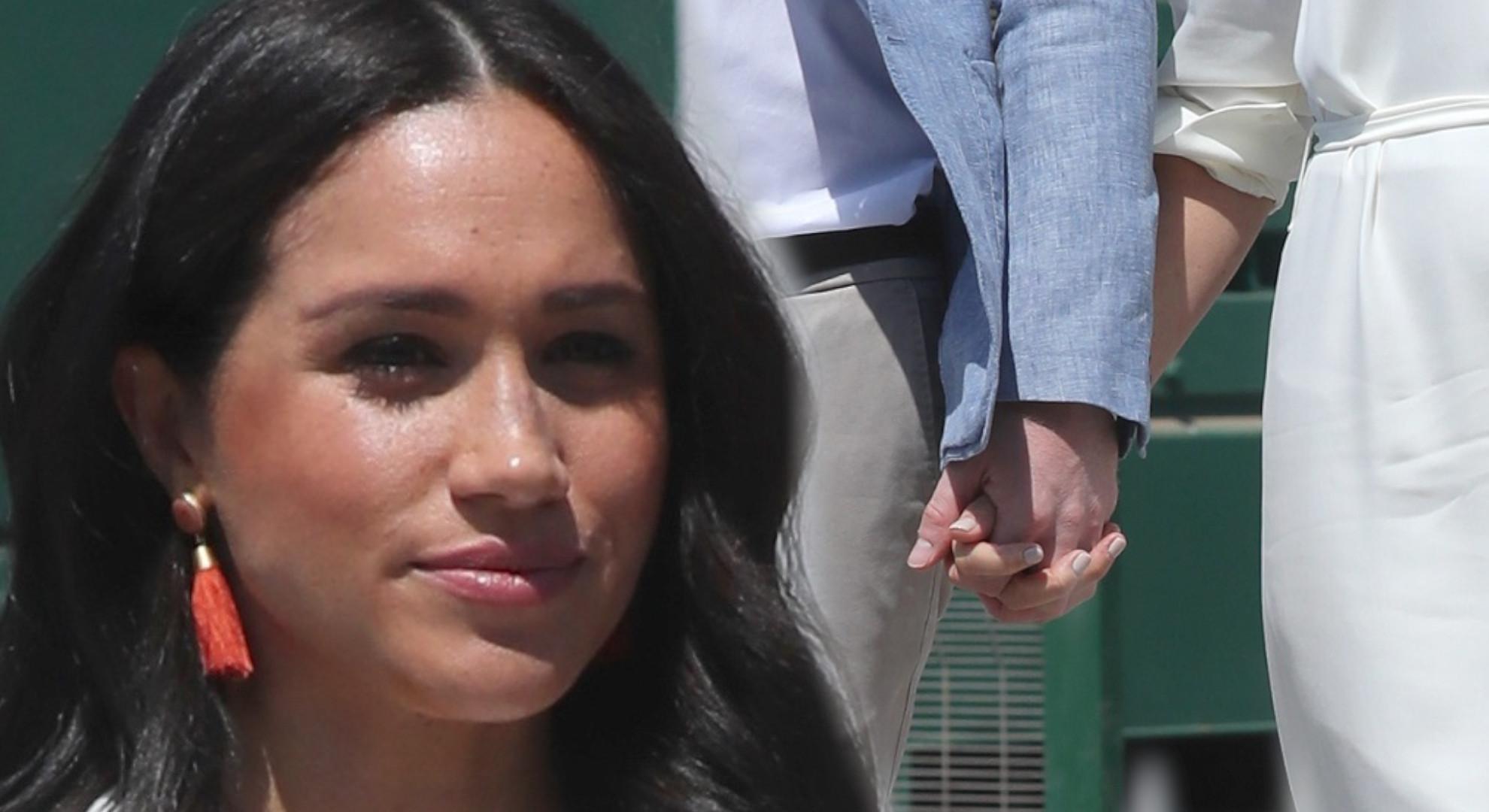 Książęca para Sussex po 6-dniowej rozłące. Meghan w pięknej koszulowej sukience (ZDJĘCIA)