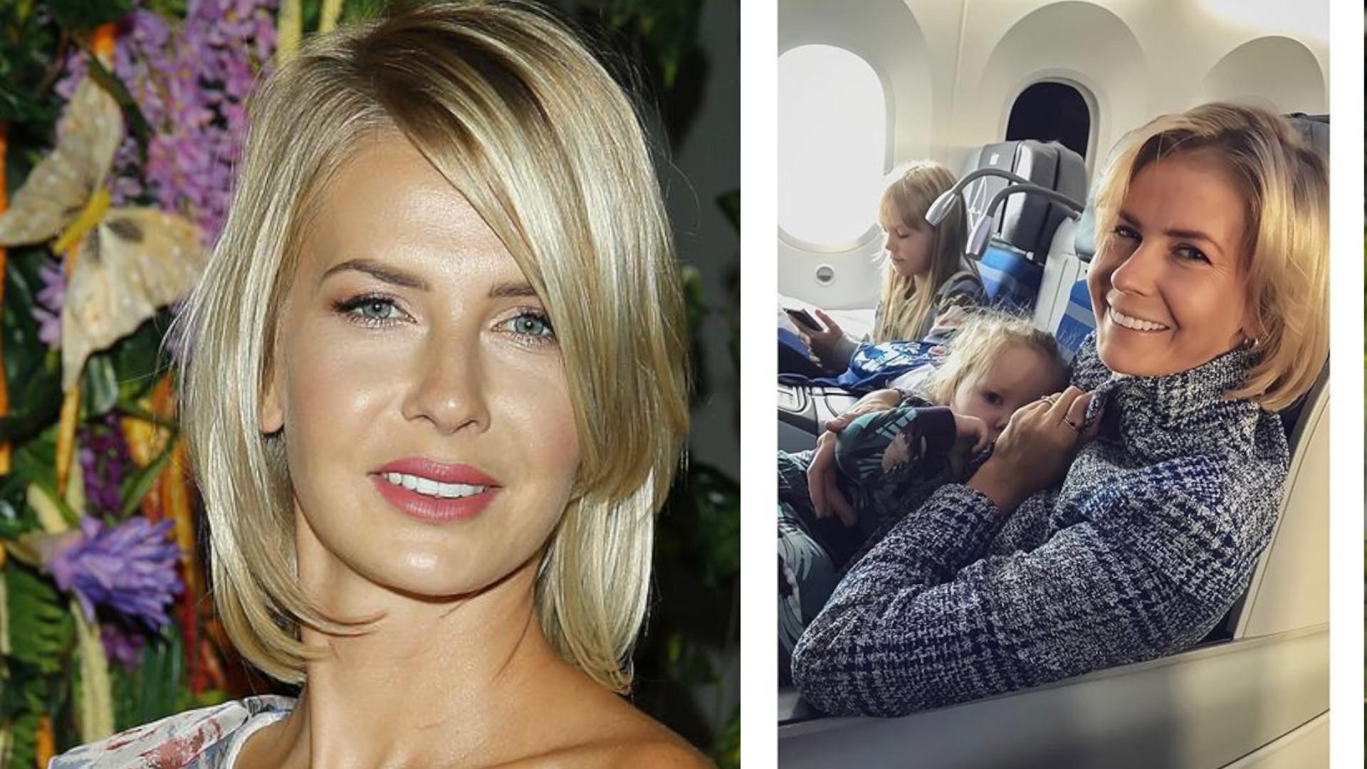 Odważnie! Edyta Pazura sama wsiadła do samolotu z trójką dzieci