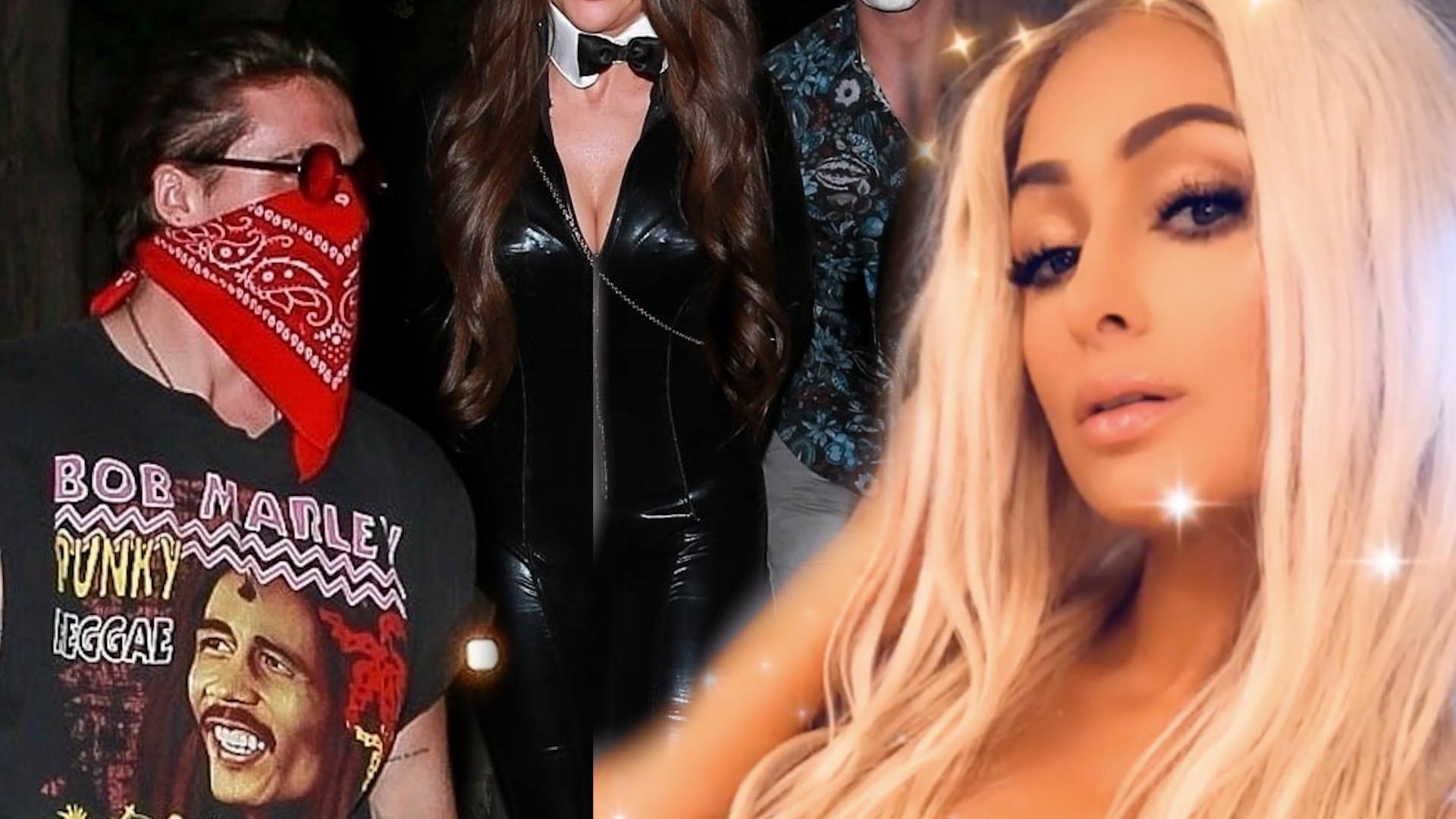 Plejada gwiazd świętuje Halloween u Paris Hilton. Brooklyn Beckham spotkał ex z nowym chłopakiem