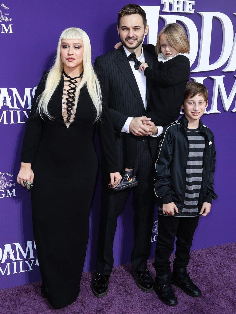 Christina Aguilera z rodziną
