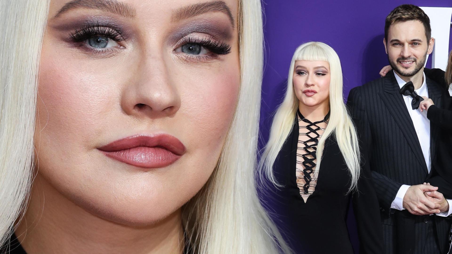 Christina Aguilera zabrała partnera i dzieci na premierę. Nowa fryzura NIE dodała jej urody (ZDJĘCIA)