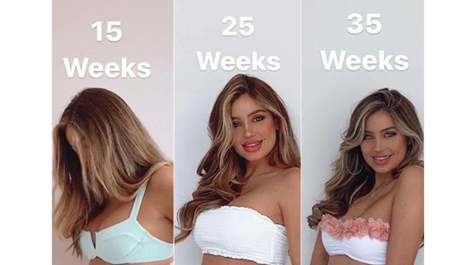 Ludzie NIE WIERZĄ, że ta modelka jest w 35. tygodniu ciąży