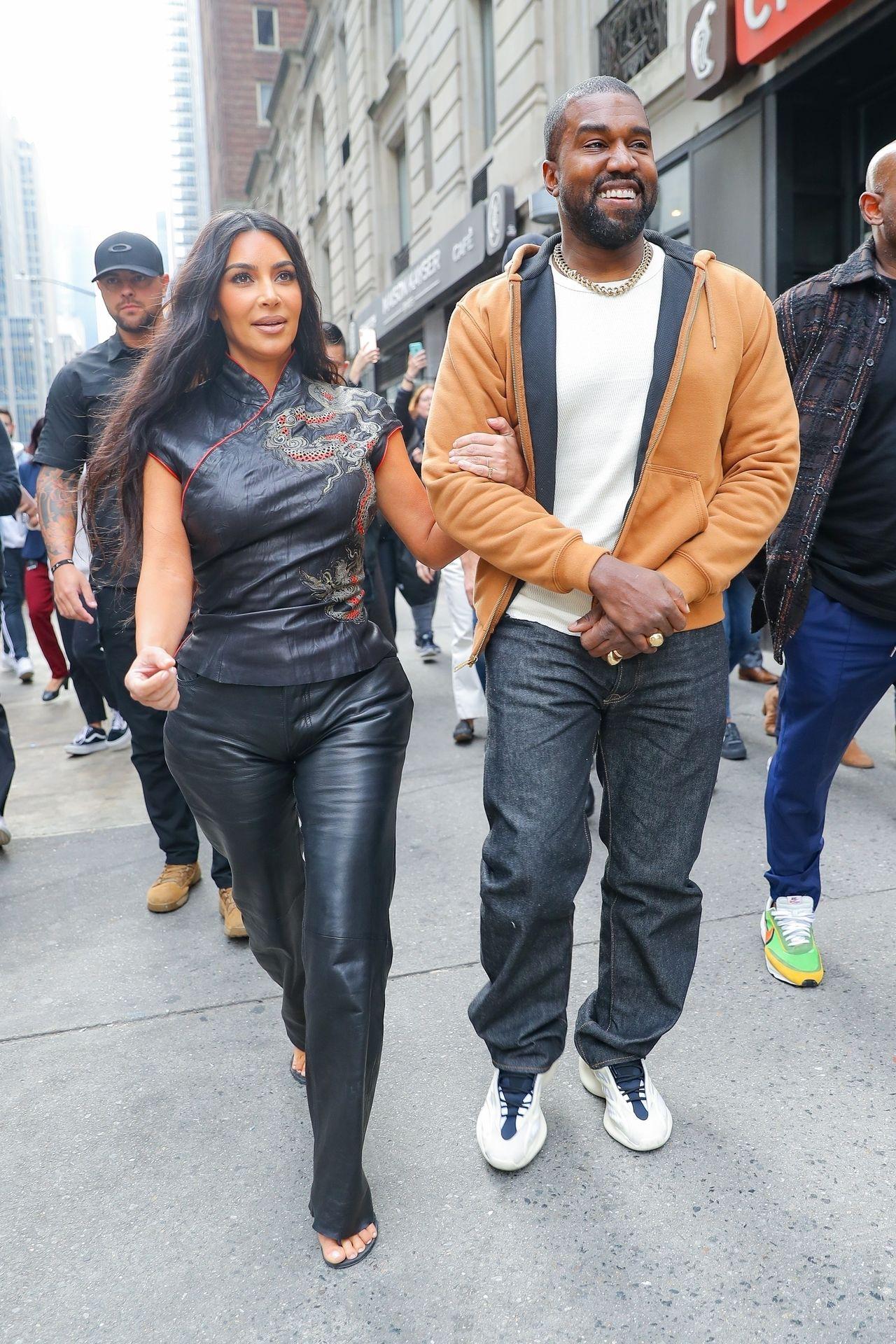 Kim Kardashian i Kanye West w Nowym Jorku.
