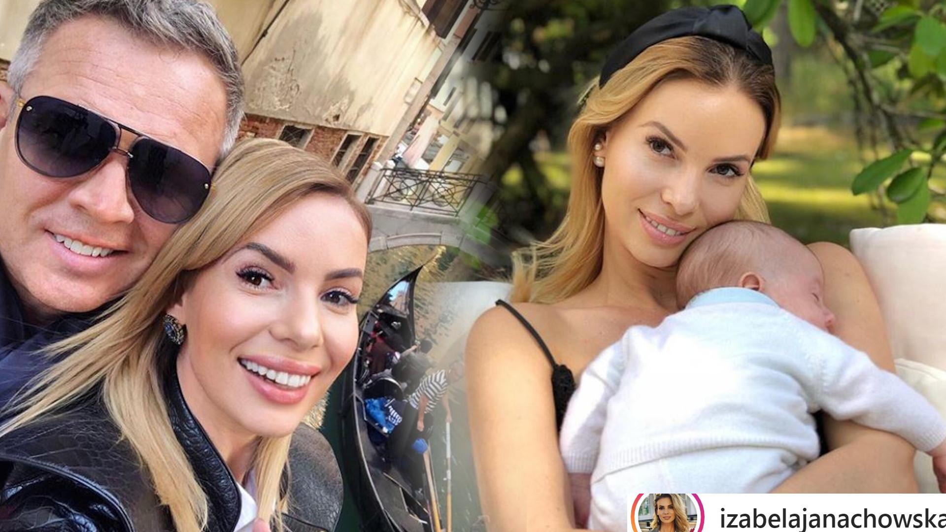 Izabela Janachowska pokazała zdjęcie z synkiem. Ma już pół roku i jest bardzo podobny do TATY!
