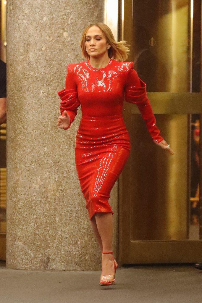 Jennifer Lopez na planie filmu