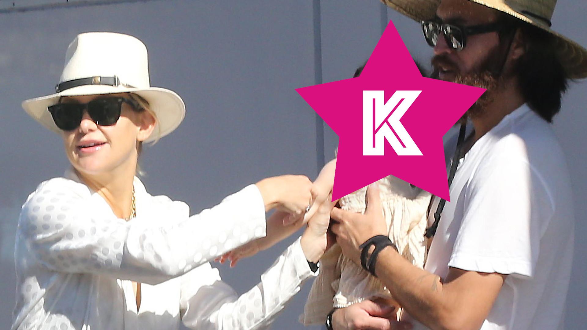 Kate Hudson z córeczką i partnerem – dziewczynka jest taka SŁODKA! (ZDJĘCIA)