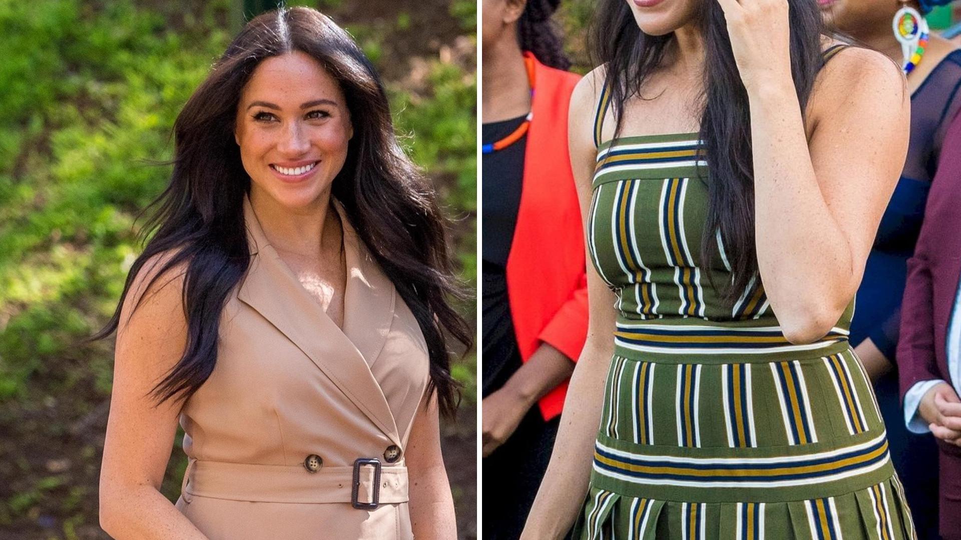 Meghan Markle powinna ZMIENIĆ stylistkę? Jej sylwetka po ciąży NIE wygląda dobrze w ubraniach sprzed roku (ZDJĘCIA)