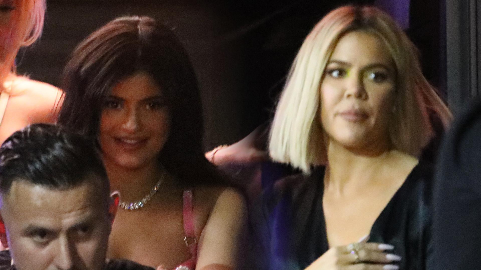 Khloe Kardashian i Kylie Jenner spotkały się z… ex mężem i byłym chłopakiem (ZDJĘCIA)