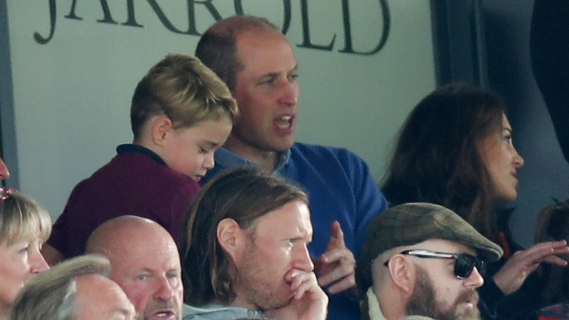 Księżna Kate i książę William z dziećmi na MECZU. Zobaczcie reakcje księcia George'a!