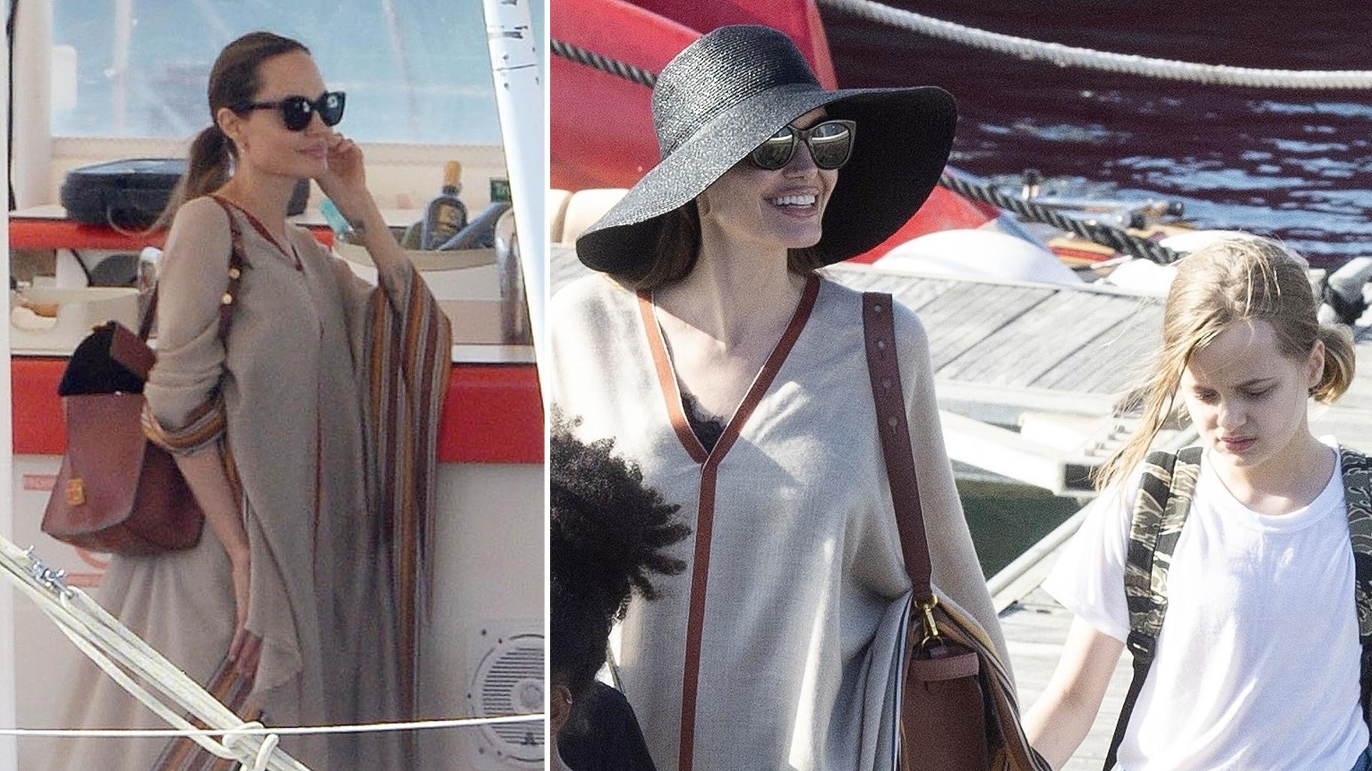 Angelina Jolie z dziećmi na łodzi – rodzina spędza czas na Fuerteventurze (ZDJĘCIA)