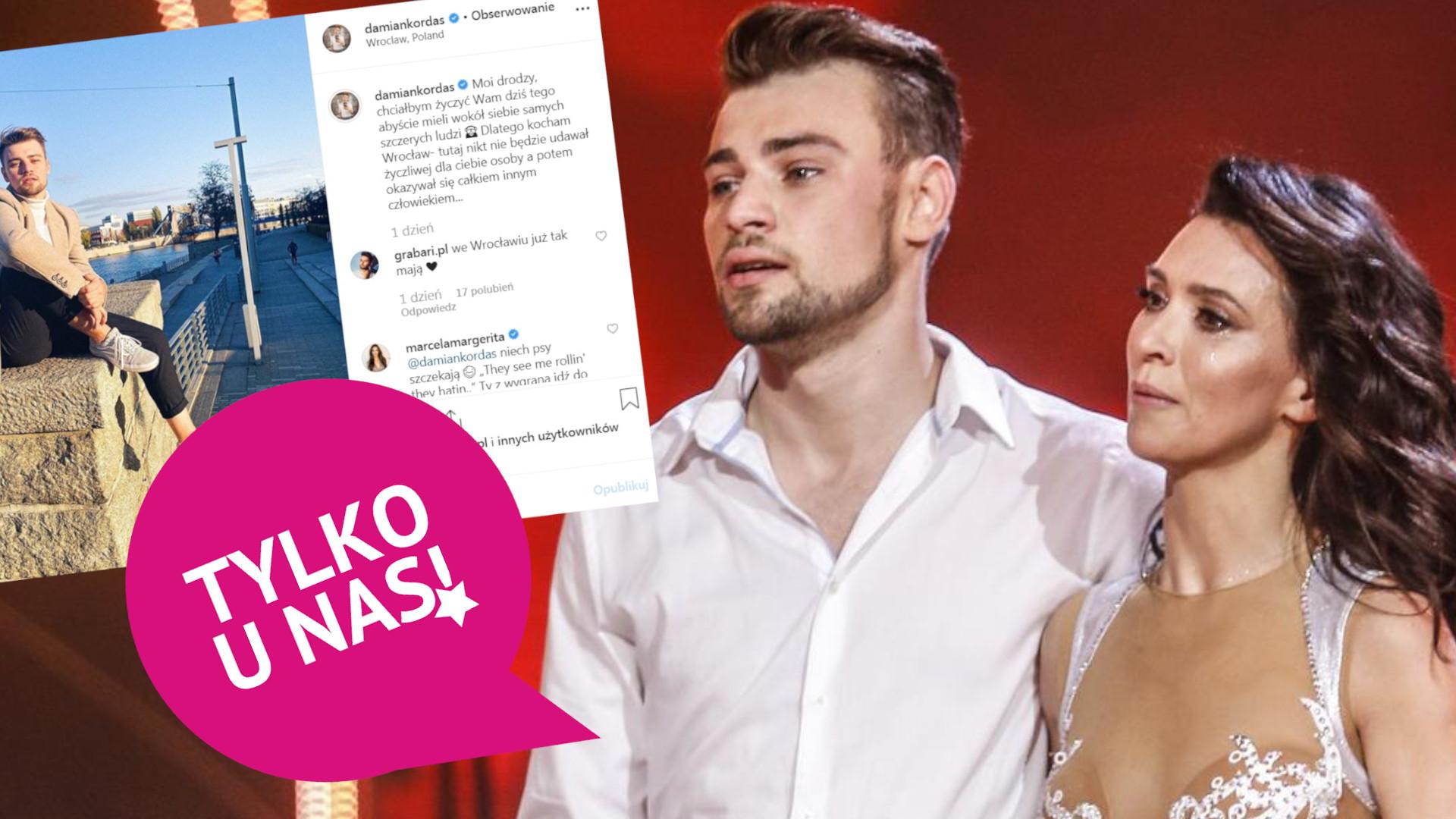 Damian Kordas rozczarowany ludźmi po Tańcu z Gwiazdami. Komentuje swój MOCNY wpis
