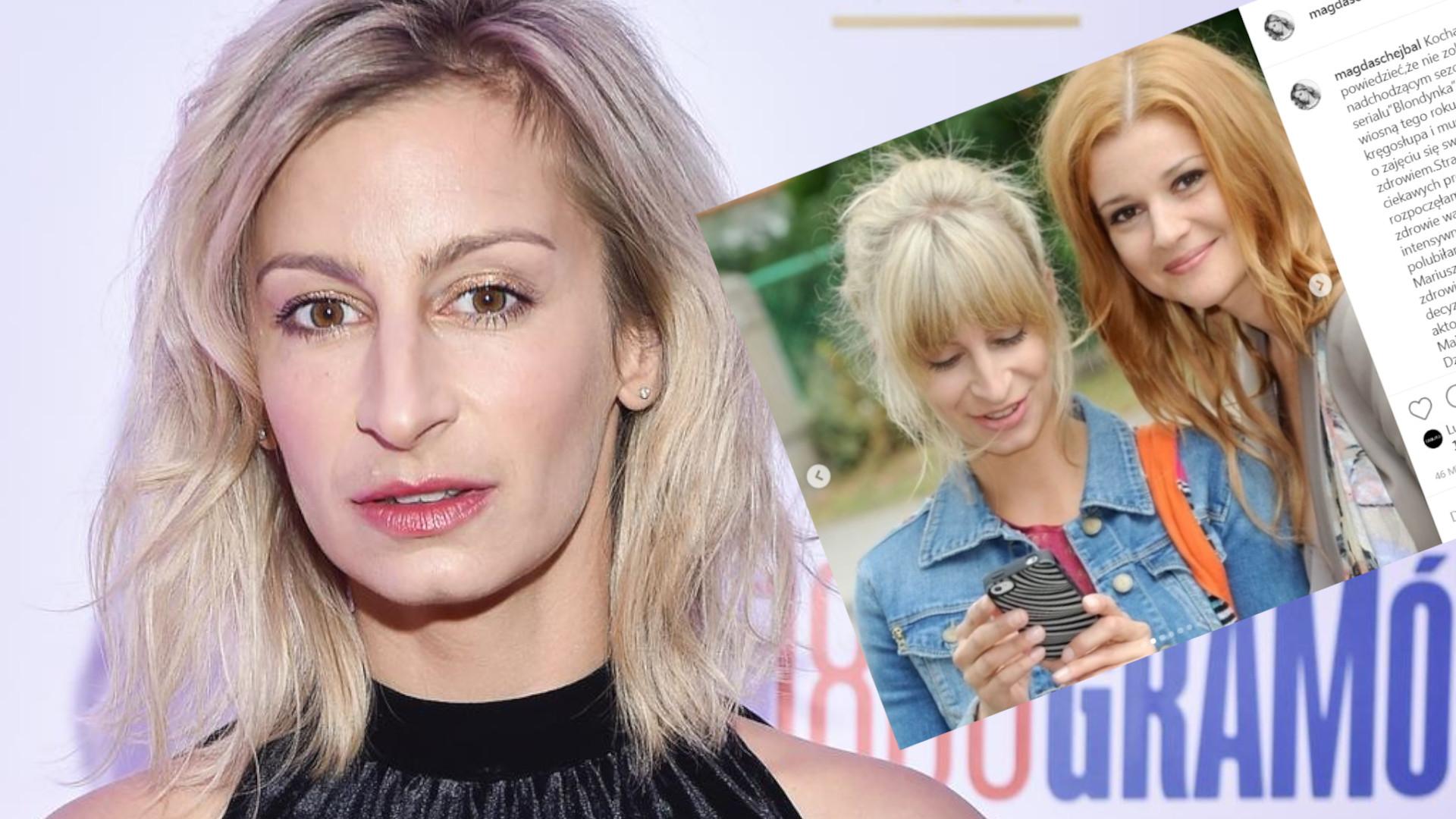 """Magda Schejbal tłumaczy odejście z serialu """"Blondynka"""". Zapewnia, że nie została zwolniona!"""