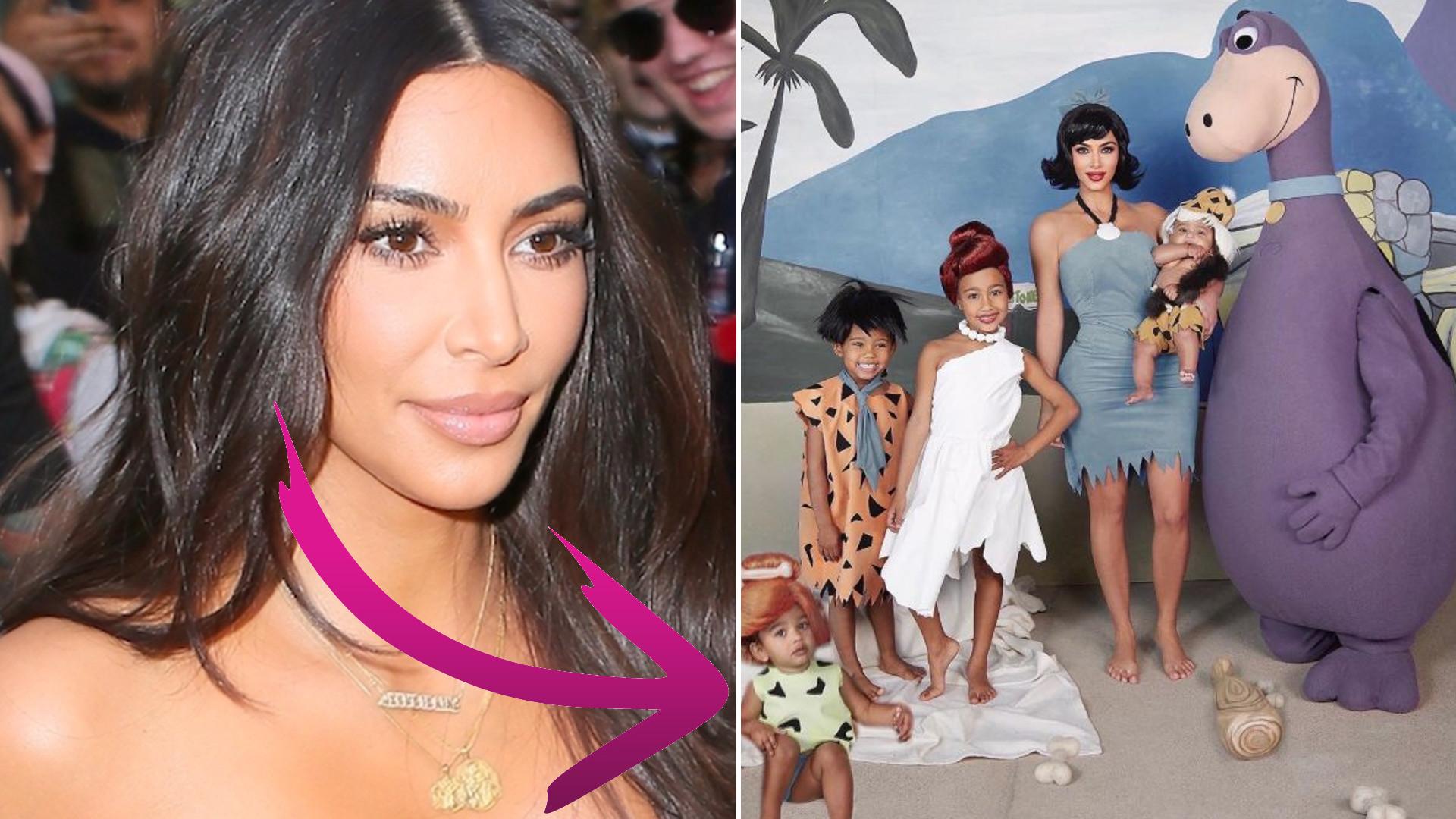Kim Kardashian musiała wkleić Photoshopem córeczkę do halloweenowego zdjęcia