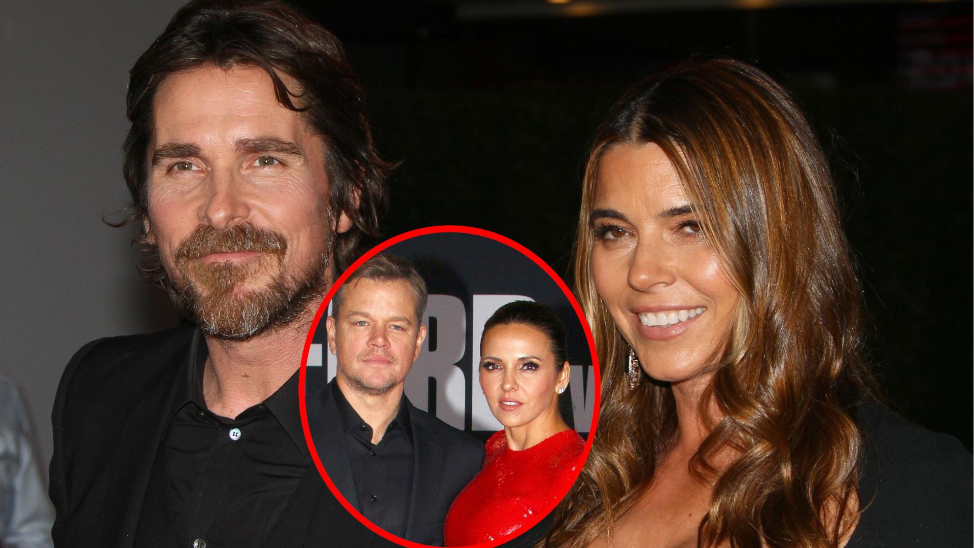 Christian Bale i Matt Damon ze swoimi żonami na pokazie filmu (ZDJĘCIA)