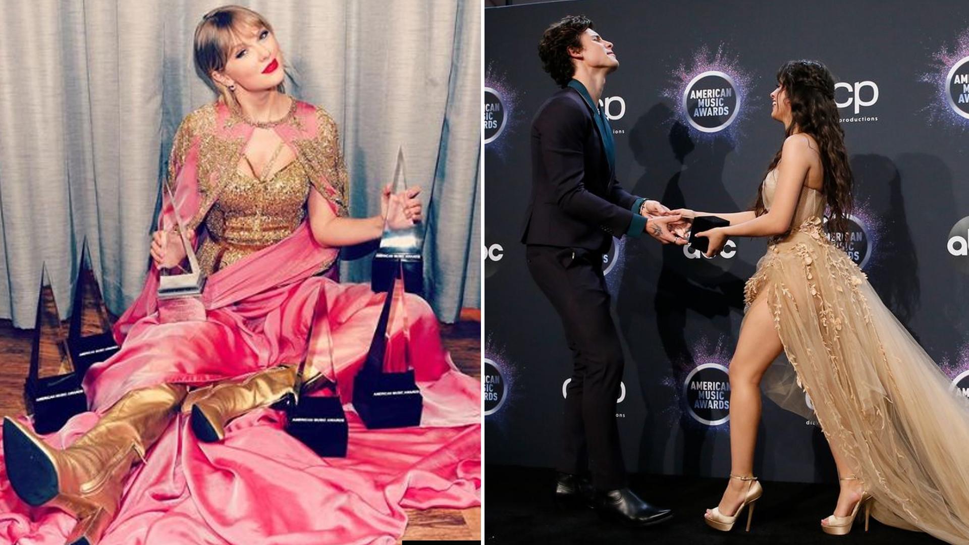 Taylor Swift z REKORDOWĄ liczbą statuetek na gali American Music Awards, Ariana Grande największą przegraną