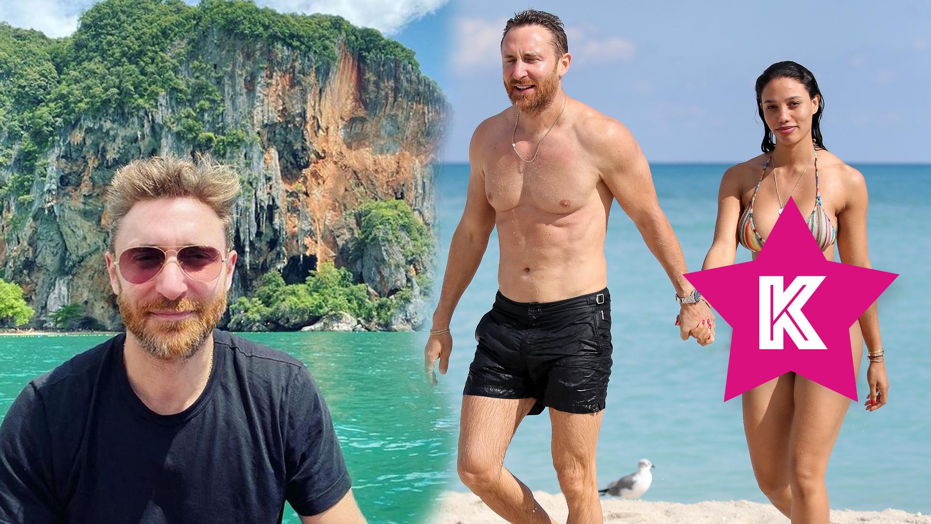 David Guetta z miłością na wakacjach. Jego dziewczyna ma lepsze mięśnie brzucha niż on! (FOTO)